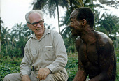 view Dr. G.W. Harley doing research on leprosy for the Liberian Institute of Tropical Medicine, Ganta Mission, Liberia digital asset: Dr. G.W. Harley doing research on leprosy for the Liberian Institute of Tropical Medicine, Ganta Mission, Liberia