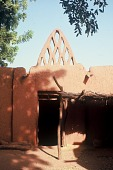 view Front entrance of traditional earth architecture, near Ouagadougou, Burkina Faso digital asset: Front entrance of traditional earth architecture, near Ouagadougou, Burkina Faso