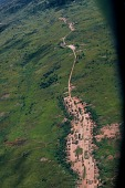 view Aerial view of traditional dwellings, near Kalemie, Congo (Democratic Republic) digital asset: Aerial view of traditional dwellings, near Kalemie, Congo (Democratic Republic)
