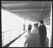 view Promenade deck on the ship Brusselville digital asset: From Antwerp to Matadi 1st Journey