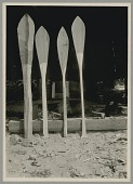 view Four Paddles in Successive Stages of Shaping; Adzes Used Nearby; Made by Xabsus, Called Jack Adams MAY 1920 digital asset number 1