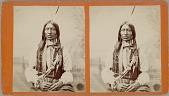 view Portrait of Stands First in Partial Native Dress Wearing Gun                   Belt digital asset: Portrait of Stands First in Partial Native Dress Wearing Gun Belt