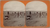 view Group of Young Men in Native Dress Playing Hoop and Pole Game n.d digital asset number 1