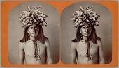view Portrait of Chief Ga-Va-Kis-Shi? (Ya-Va-Kis-Shi?) Wearing Feather Headdress n.d digital asset number 1
