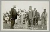 view Hon Scott Leavitt, Congressman, Presenting L. V. Bogy with Pen and Document Setting Apart Battleground 30 SEP 1928 digital asset number 1