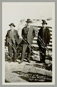 view William Hopper, 85 Yr Old Civil Veteran, John E. Erickson, Montana Governor, and John W. Johnson?, Scout to Gen Miles In 1877, 82 Yrs Old, at Monument Dedication digital asset: William Hopper, 85 Yr Old Civil Veteran, John E. Erickson, Montana Governor, and John W. Johnson?, Scout to Gen Miles In 1877, 82 Yrs Old, at Monument Dedication