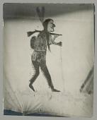 view Painted Tent Decoration: Hunter? with Gun on Shoulder JUL 1924 digital asset number 1