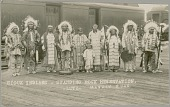 view Group from Standing Rock Reservation in Native Dress 1910 digital asset number 1