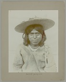 view Portrait of Man in Native Dress and Wearing Straw Hat n.d digital asset number 1