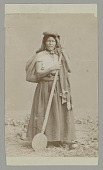 view Woman in Native Dress with Wood Paddle n.d digital asset number 1