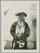 view Bitter Root Jim in Native Dress by Tipi at Grand Council of Sign Language of Northwest Indians SEP 1930 digital asset number 1