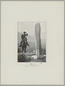 view Diaguita Man on Horseback Beside Stone Pillar (Ceremonial?) digital asset: Diaguita Man on Horseback Beside Stone Pillar (Ceremonial?)