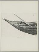 view Yahgan canoe, paddles, harpoons digital asset: Yahgan canoe, paddles, harpoons