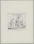 view European with Group Of Tehuelche?, 18th century engraving digital asset: European with Group Of Tehuelche?, 18th century engraving