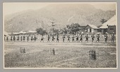 view Group in Native Dress with Drums and Native Soldiers in Uniform with Guns n.d digital asset number 1