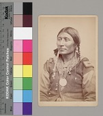 view Portrait of Chief ? Black Hawk Wearing Military ? Patches On Jacket, Ornaments, and Peace Medal 1867-75 digital asset number 1
