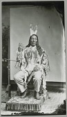 view Man (Lean Wolf ?) in Partial Native Dress, Making Sign Language Gesture 1880 digital asset number 1