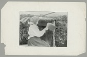 view Woman Weaving Basket Outside Sod House (Barabara) n.d digital asset number 1