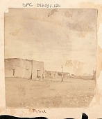 view View of Adobe Structures and Horse-Drawn Carriage n.d digital asset number 1