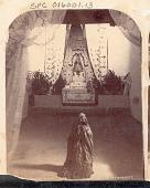 view Woman in Costume Kneeling at Altar of Mary, Inside Santa Cruz Church n.d digital asset number 1