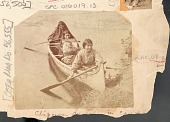 view Three Women and Infant in Cradleboard in Canoe n.d digital asset number 1