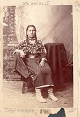 view Portrait of Mary, Young Woman, in Native Dress, Including Elk-Tooth Shirt n.d digital asset number 1