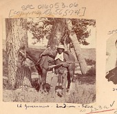 view Man, Scout for Survey, in Military Uniform and with Gun, Beside Horse 1875 digital asset number 1