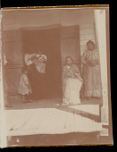 view Possibly family of Benjamin Paul on porch of house. Elderly woman sitting is Clara Dardin n.d digital asset number 1