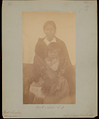 view Kweti, James Hornbuckle's Wife, Holding Child on Lap 1888 digital asset number 1