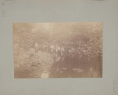 view Group Fishing at Stream [1888] digital asset number 1
