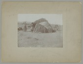 view Three Women in Native Dress Near Wickiup and Wagon n.d digital asset number 1