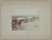 view View of Camp Showing Two Wickiups and Two Horses, One with Rider n.d digital asset number 1