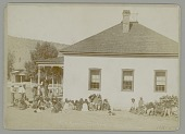 view Fort Apache Adjutant Office with Group in Native Dress n.d digital asset number 1