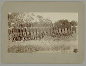 view Troop L, 7th Cavalry in Uniform. Taken Day Troop Disbanded ca.1897 digital asset number 1