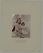 view Old Woman and Child in Partial Native Dress Outside Tipi 1900 digital asset number 1