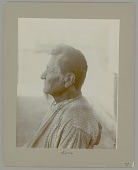 view Old Man with Beard Outside Tipi (Profile View) 1900 digital asset number 1