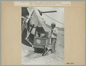 view Man with Shovel Filling Concrete Cars at Mixing Board 14 JUN 1906 digital asset number 1