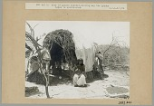 view Woman (Wife? of Workman) in Native Dress Outside Wickiup JUN 1906 digital asset number 1