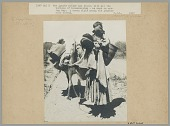 view Woman in Native Dress with Child on Shoulder and Basket on Rack, Leading Pack Horse 1907 digital asset number 1