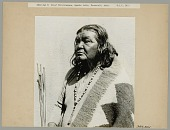 view Chief Chilchiwauna Wearing Blanket, Necklace, and Holding Arrows 1910 digital asset number 1