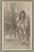 view Portrait of Woman with Male Infant and Young Girl; All in Native Dress 1886 digital asset number 1