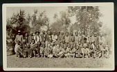 view Mr C. R. Franks, Pension Examiner, and Mr S. F. Stacher, Agency Superintendent, with Group of Old Scouts in Partial Native Dress (Served in Campaign Against Apaches, 1885-86) 1926 digital asset number 1