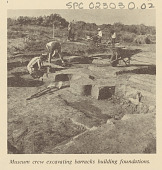 view Museum of New Mexico Crew Excavating Building Foundations digital asset: Museum of New Mexico Crew Excavating Building Foundations