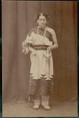 view Portrait of We'Wha Holding Clay Ceremonial Prayer-Meal Basket 1900 digital asset number 1