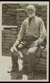 view Jesse Walter Fewkes by masonry walls, undated digital asset number 1