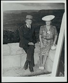 view Park Service employee and Mary Dean Powell, John Wesley Powell's daughter, 1941 digital asset number 1