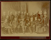 view Portrait of officers of American Association for The Advancement of Science, including Rev James Owen Dorsey and Mrs Erminnie A. Smith, 1885 digital asset number 1