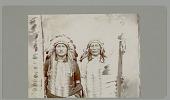 view Portrait of Strigi-Sapa (Joe Black Fox) and Sinte Maza (Iron Tail) Copyright 19 AUG 1901 digital asset number 1
