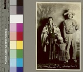 view Portrait of Navajo man with wife and daughter Copyright 05 AUG 1931 digital asset number 1