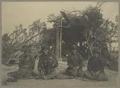 view Navajo Indians outside summer brush arbor Copyright 06 JAN 1905 digital asset number 1